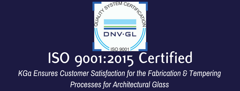 Kensington Glass Arts, Inc. Announces Certification to ISO 9001:2015 Standards